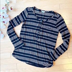 SPLENDID shirt size XS black brown stripes